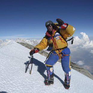 Oscar Cadiach en la cima del Dhaulagiri
