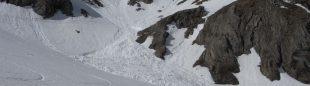 Alud en la subida normal al pico Estaragne