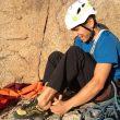 Jonathan Siegrist en Honeymoon is over a la Diamond del Longs Peak (Colorado)  (Col. J. Siegrist)