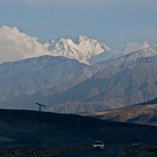 Vista del Nanga Parbat durante la aproximación desde Chilas  (Col. D. Nardi)