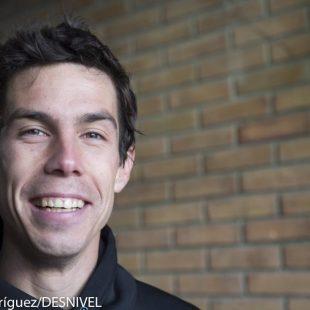 El alpinista y escalador aragonés Manu Córdova en el European Mountain Meeting 2012.  ()