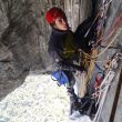 Javi Cano en North American Wall (1.100 m