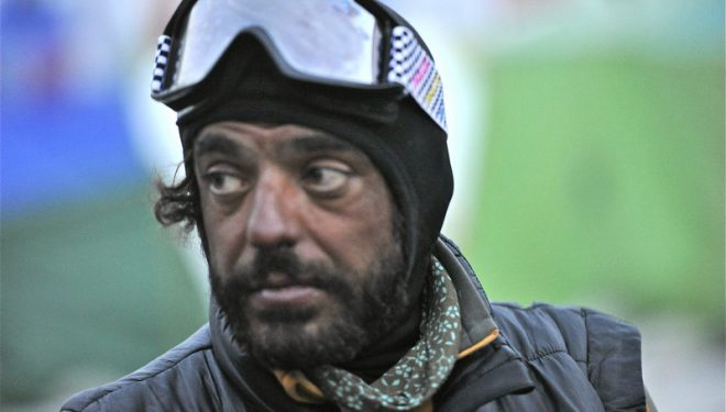 Carlos Pauner a su descenso cima Lhotse