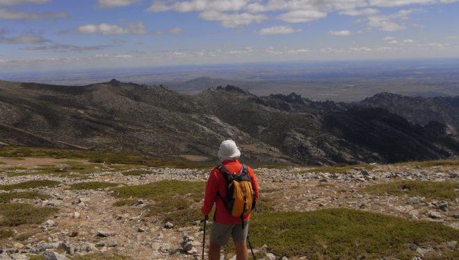 Un montañero en Cuerda larga.  (Dioni Serrano)