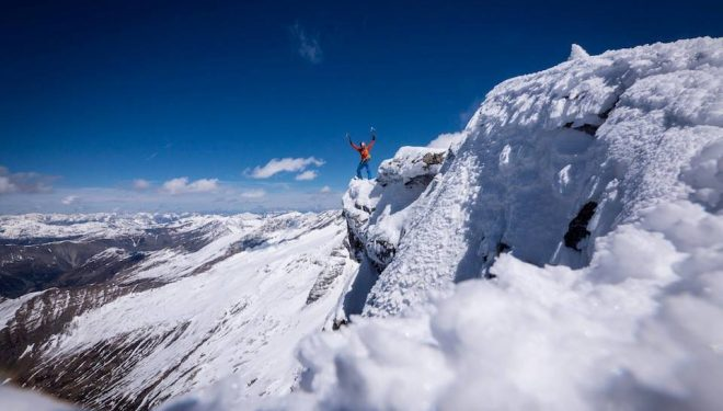 David Lama en el Sagwand (Alpes de Tirol)  (Col. D. Lama)