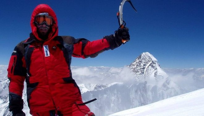 Zdenek Hruby (57) en la cima del Broad Peak  (Zdenek Hruby)