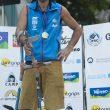 Urko Carmona en el Rock Master Festival Arco 2013 donde ganó la medalla de oro en paraescalada categoría amputados.  ()