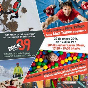 Cartel de inauguración del nuevo centro Dock39 en Vizcaya  ()