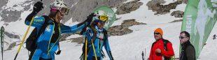Entrada en meta del primer equipo femenino CADETES en la clasificación: Carla Martínez. Selección Vasca y Celia Olivar. Selección Vasca  ((c) Santiago Yániz)