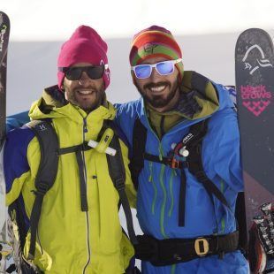 Los riders de GORE-TEX® Bruno Compagnet y Giuliano Bordoni se exhiben en Grandvalira.  ()