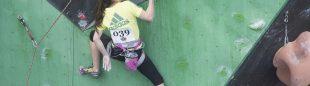 Marta Palou en la primera prueba Copa España Escalada Dificultad 2014