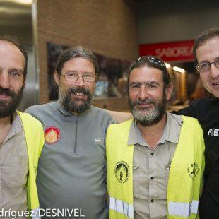 Parte del equipo coordinador del rescate de Cecilio López. De izda a dcha Javier Lepera