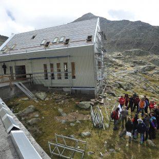 Estado actual de uno de los edificios que compondrán el refugio de Cap de Llauset.  (PRAMES)