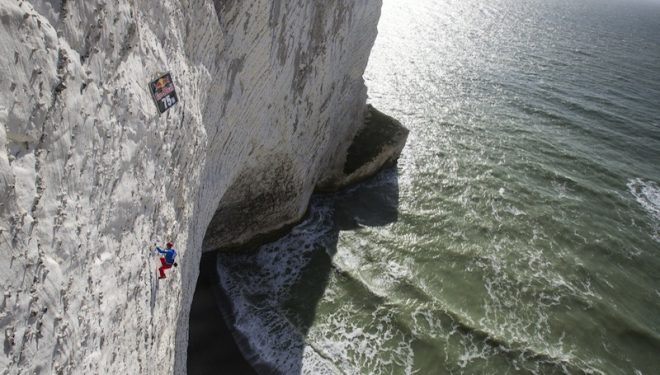 El impresionante escenario en el que se disputó el Red Bull White Cliffs.  (©Jonathan Griffith/Red Bull Content Pool)