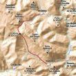 Mapa de la ruta por el Valle de Valdeteja en la Montaña Central Leonesa.  ()