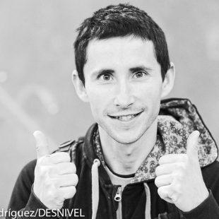 Ramón Julián Ramonet durante el Campeonato Mundo Escalada 2014 celebrado en Gijón  (© Darío Rodríguez/DESNIVEL)
