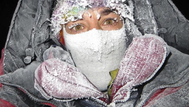Elisabeth Revol en el Nanga Parbat (invierno 2015)  (©Elisabeth Revol)