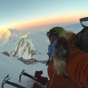 Lonnie Dupre en el Denali invernal  (Col. L. Dupre)