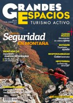 Portada de la revista Grandes Espacios nº 207. Febrero 2015. Especial Seguridad en Montaña. [WEB]  ()