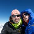 Raphael Slawinski e Ian Welsted en la primera ascensión al K6 Oeste. Piolets dOr 2014  (©Raphael Slawinski /Ian Welsted)