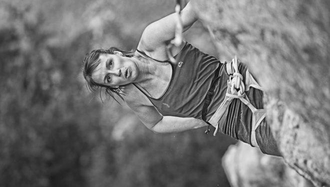 """La escaladora francesa Florence Pinet en """"Esclatamasters 8c+ en Perles"""