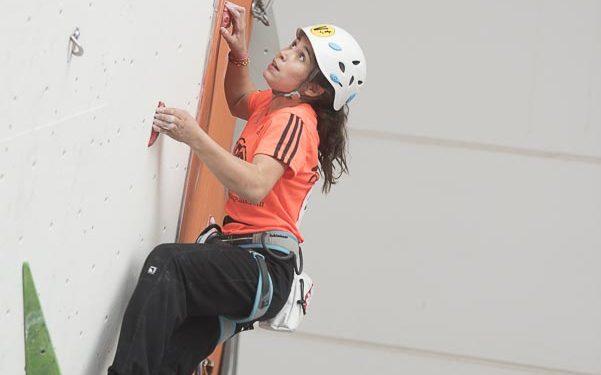 Ana Belén Argudo (13 años)  quedó primera en la tercera prueba Copa España Escalada celebrada en Madrid