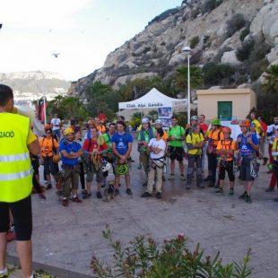 Participantes del XIV Rally 12 horas de Escalada Peñón de Ifach 2015.  (Club Alpi de Gandía)