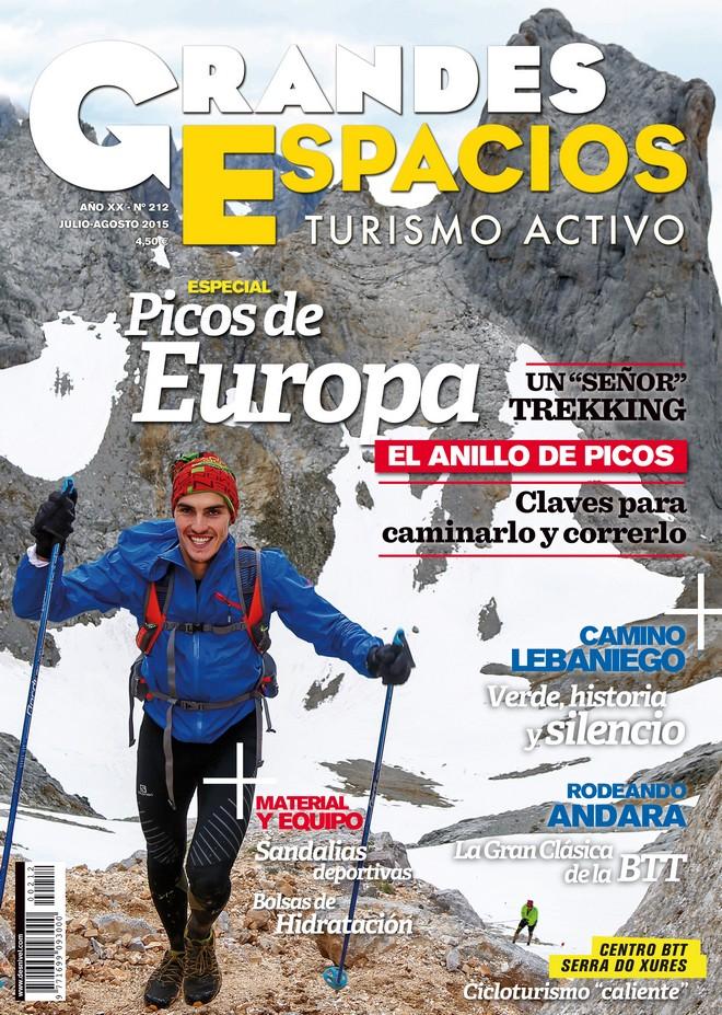 Portada de la revista Grandes Espacios nº 212. Julio 2015. Especial Picos de Europa [WEB]  ()