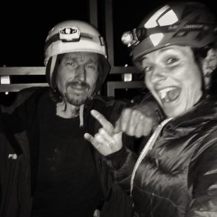 Christian Winklmair y Barbara Zangerl en la cumbre de la Cima Ovest de Lavaredo (Dolomitas)  (Col. B. Zangerl)