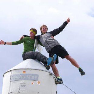 Yann Borgnet y Yoann Joly en el Triglav  (Alpine Line Project)