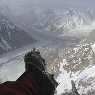 Una imagen tomada a 7.000 metros por Carlos Suárez durante el intento que realizo en el K2 en julio-agosto 2015  (© Carlos Suárez)