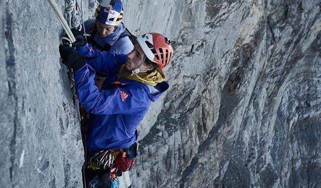 Sasha DiGiulian y Carlo Traversi escalando en el Eiger. Agosto 2015  (Colección personal Sasha DiGiulian)
