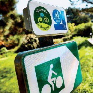 Cartel de señalización de la ruta Eurovelo 4  (Eurovelo)