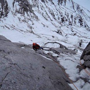 Kilian Jornet durante su ascensión con Ueli Steck a la cara norte del Eiger  (Ueli Steck)