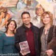 Vicente García Campo en la entrega del Premio Desnivel de Literatura 2015 por su novela Sin fronteras. Un corredor en tierra de nadie. A su lado