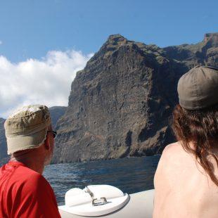 """Sector del Acantilado de los Gigantes (Tenerife) donde está prohibida la escalada y en la que se abrió """"Los gigantes"""".  (Escalada Sostenible Tenerife)"""