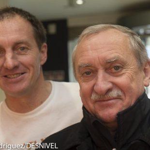 Denis  Urubko y Krzysztof Wielicki en el Bilbao Mendi Film Festival 2013  (© Darío Rodríguez/DESNIVEL)