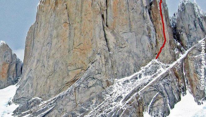Línea de Pilar canino al Cerro Piergiorgio (Patagonia)  (Rolando Garibotti / Pataclimb.com)