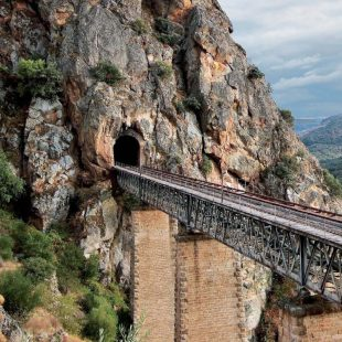 Puente del Tren de la Fregeneda sobre el arroyo Poyo Rubio. tiene una longitud de 112