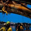 Prueba del Desafío RescueDay Trophy 2016 en el Puente Triana  (Enrique Bullón / Petzl)