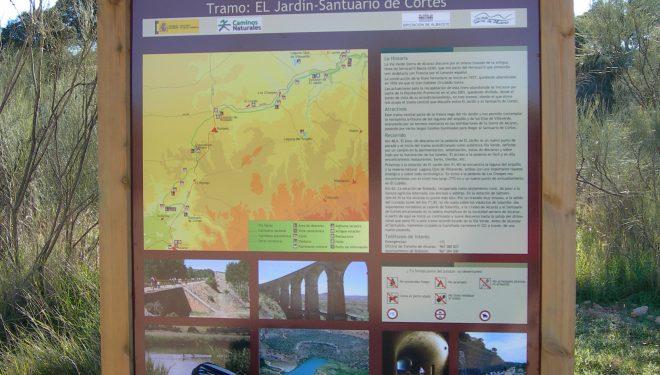 Panel del Camino Natural Vía Verde de Alcaraz.  (Dioni Serrano)