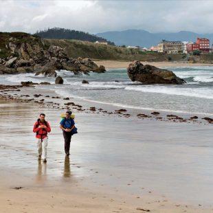 Comenzando la ruta de las Algas en la Playa de San Antón