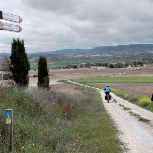 La ruta del Cristal de Hispania atraviesa un paisaje típicamente manchego con llanuras cerealistas que se pierden en el horizonte  (Dioni Serrano)