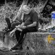 Foto ganadora del concurso de fotografías del Camino de Santiago 2016 titulada Descanso en el camino  (Javier Yárnoz Sánchez)