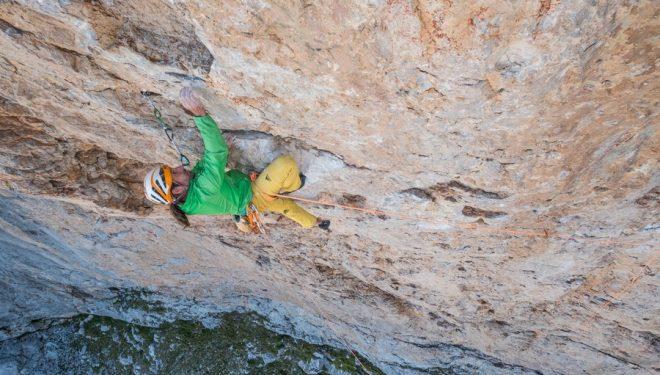 Alex Huber en libre en Sueños de invierno (540 m