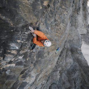 Hansjörg Auer en The loss of the Demantoid en el Kristallwand del Kirchkogel (3.280 m)  (Elias Holzknecht)