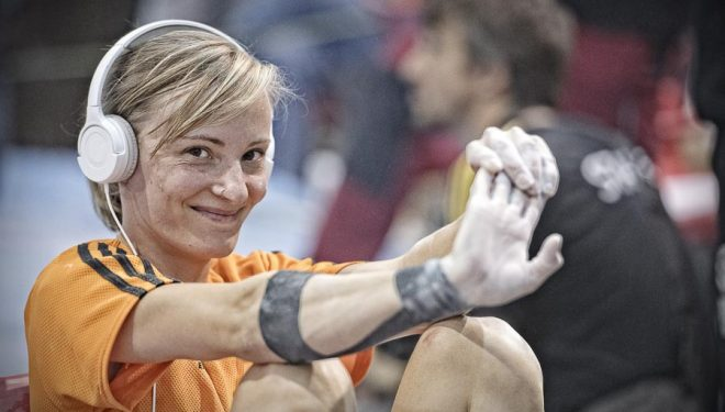 Mari Alarcón en el Campeonato de España de Búlder 2016.  (Darío Rodríguez)
