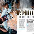 Apertura del árticulo Actitud de la revista Escalar 104.  ()