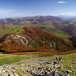La cima del Pico Adi. En primer plano