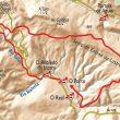 Mapa de los Castañares de Oulego.  ()